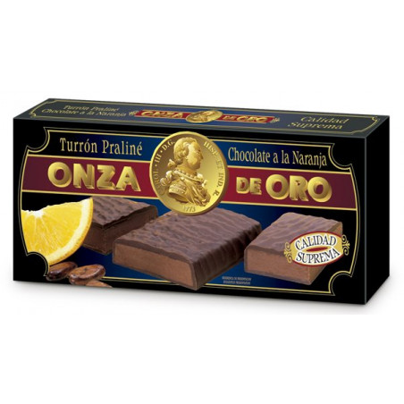 Turrón Praliné Chocolate a la Naranja 200 g